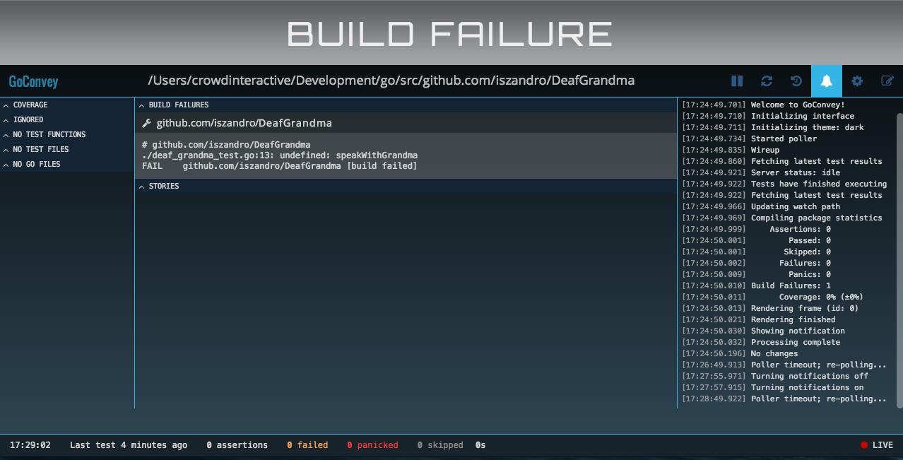 GoConvey failed build